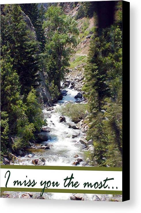 Colorado Canvas Print featuring the photograph Colorado On My Mind by Donna Proctor