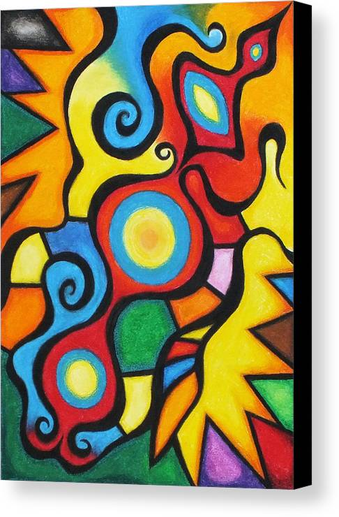 Pastel Chalk Canvas Print featuring the pastel Colorful by Sven Fischer