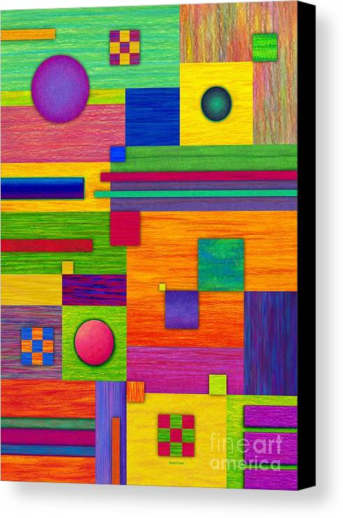 Colored Pencil Canvas Print featuring the painting Combination 2 by David K Small