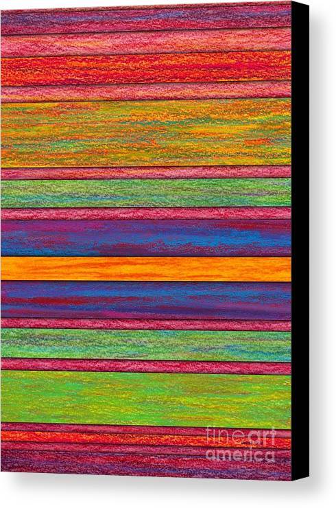 Colored Pencil Canvas Print featuring the painting Contrast by David K Small