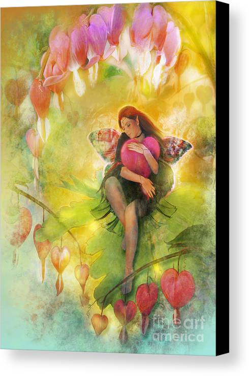 Fairy Canvas Print featuring the digital art Cradle Your Heart by Aimee Stewart