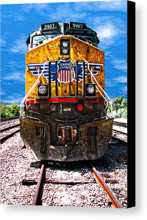 Train Canvas Print featuring the photograph Day Train by Wendy J St Christopher