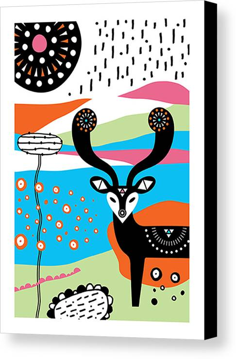 Susan Claire Canvas Print featuring the photograph Deery Me by Susan Claire