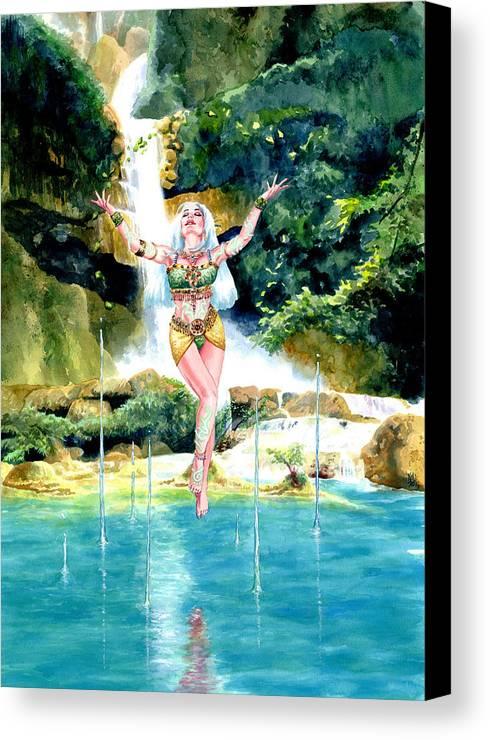 Women Canvas Print featuring the painting Djinn by Ken Meyer jr