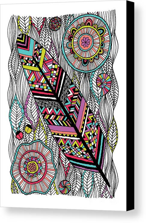 Navajo Canvas Print featuring the digital art Dream Feather by Susan Claire