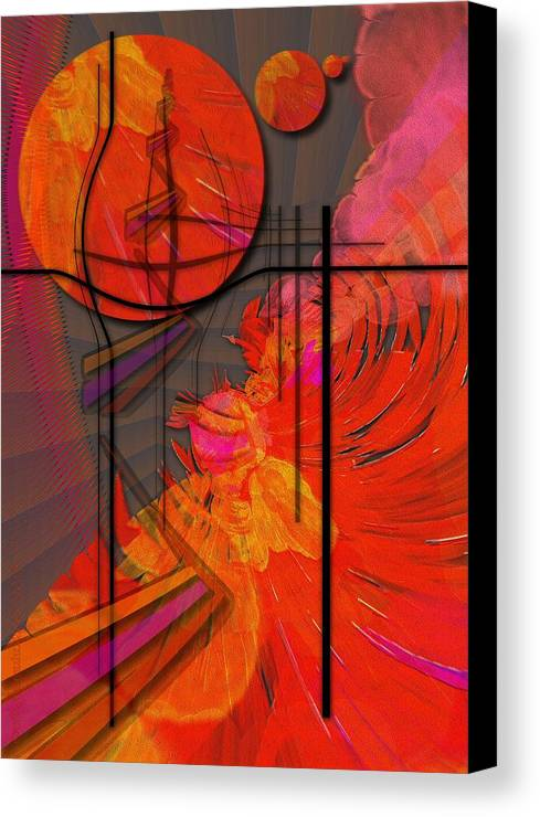 Tangerine Canvas Print featuring the digital art Dreamscape 06 - Tangerine Dream by Mimulux patricia no No