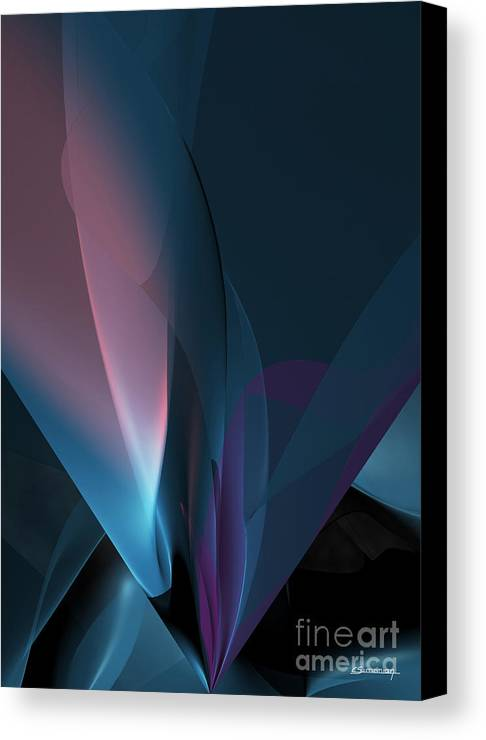 Abstract Canvas Print featuring the painting Flower And Light by Christian Simonian