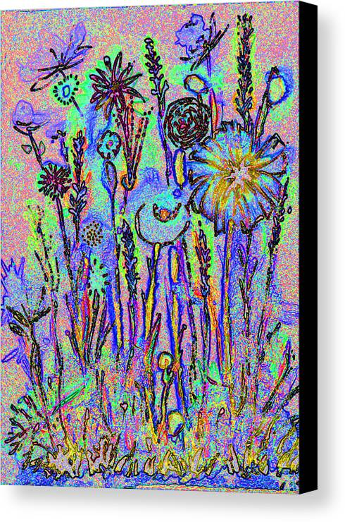Flowers Canvas Print featuring the photograph Flowers A1a by Bruce Iorio