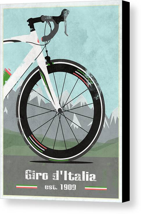 France Canvas Print featuring the mixed media Giro D'italia Bike by Andy Scullion