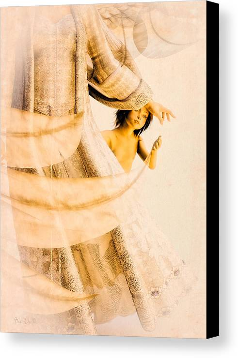 Angel Canvas Print featuring the digital art God Bless This Child by Bob Orsillo