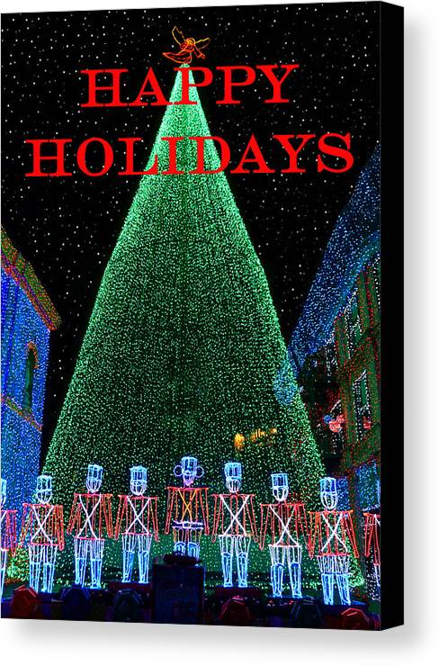 Fine Art Photography Canvas Print featuring the photograph Happy Holidays by David Lee Thompson