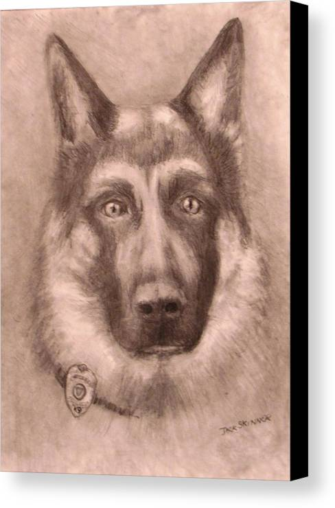 Pencil Drawing Canvas Print featuring the drawing Honor by Jack Skinner
