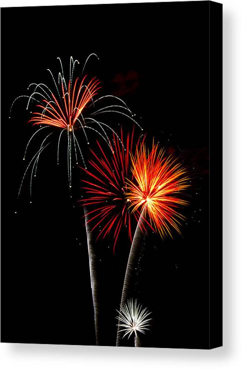 July 4th Canvas Print featuring the photograph Independence Day by Saija Lehtonen