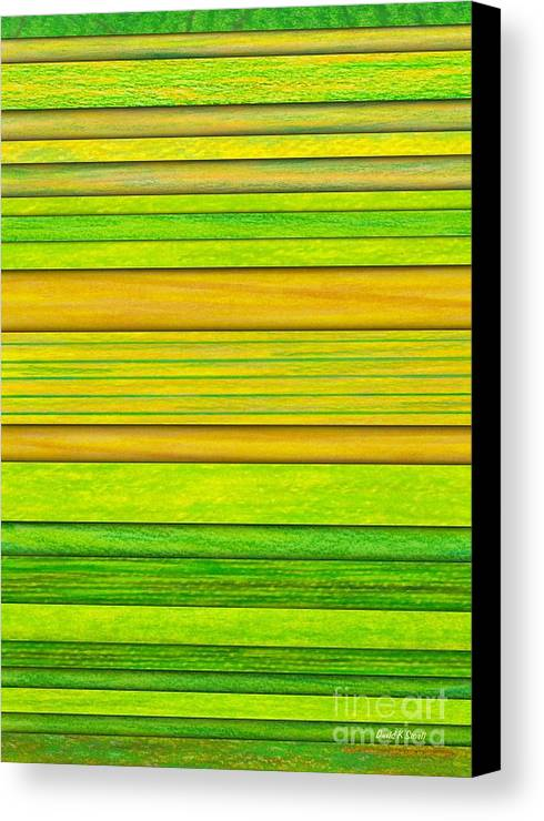Colored Pencil Canvas Print featuring the painting Lemon Limeade by David K Small