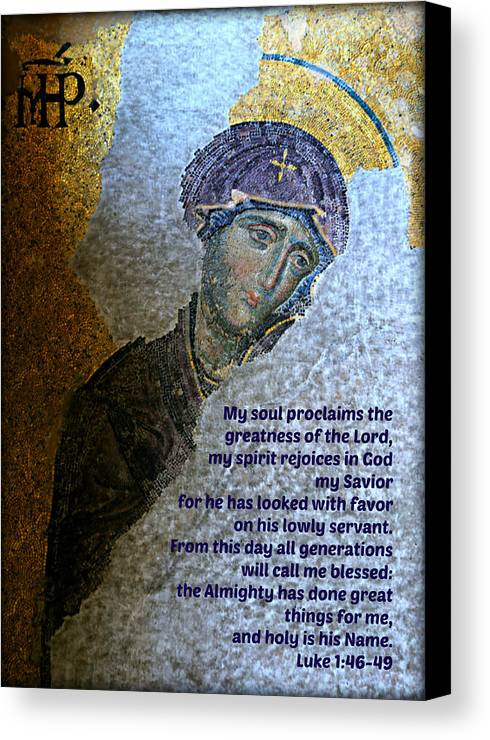 Magnificat Canvas Print featuring the photograph Mary's Magnificat by Stephen Stookey