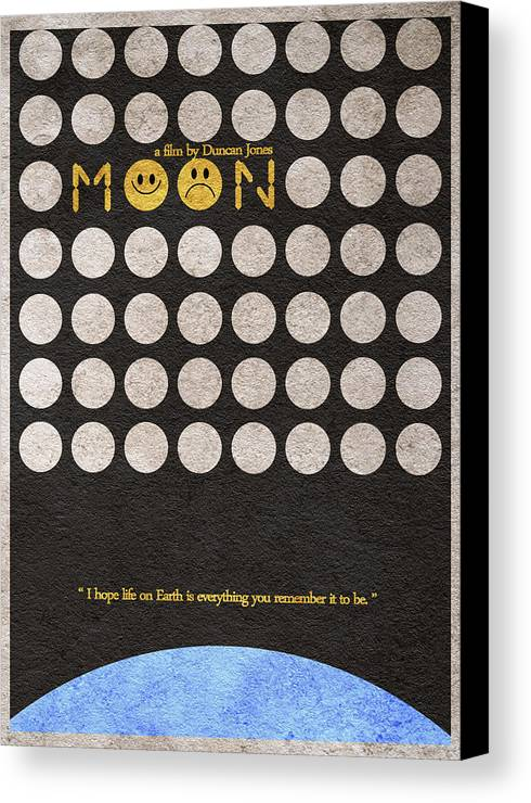 Moon Canvas Print featuring the drawing Moon by Ayse Deniz