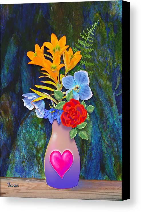Mother's Day Canvas Print featuring the painting Mothers Day Bouquet by Teresa Ascone