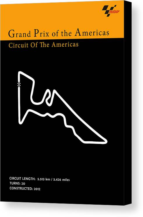 Moto Gp Canvas Print featuring the photograph Moto Gp Of The Americas by Mark Rogan