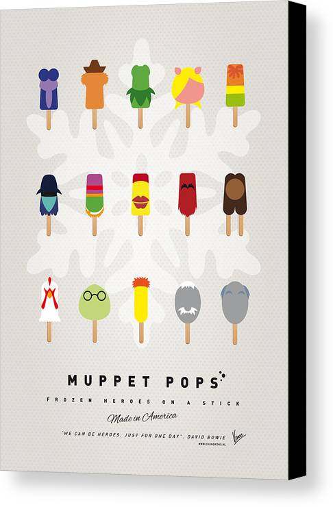 Muppets Canvas Print featuring the digital art My Muppet Ice Pop - Univers by Chungkong Art