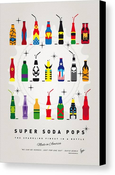 Icepops Canvas Print featuring the digital art My Super Soda Pops No-00 by Chungkong Art