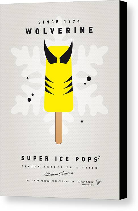 Superheroes Canvas Print featuring the digital art My Superhero Ice Pop - Wolverine by Chungkong Art