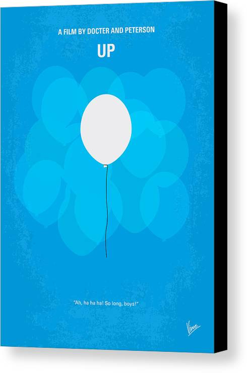 Up Canvas Print featuring the digital art My Up Minimal Movie Poster by Chungkong Art