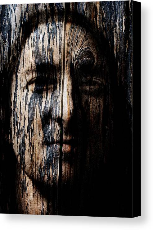 Native Canvas Print featuring the painting Native Heritage by Christopher Gaston
