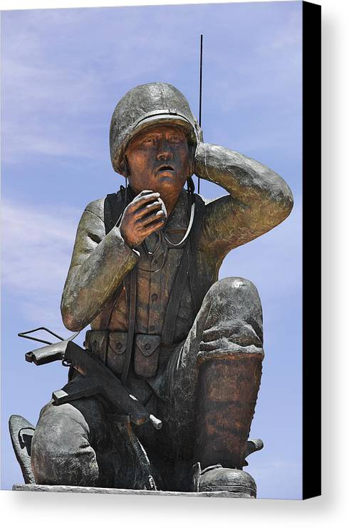 Navajo Canvas Print featuring the photograph Navajo Code Talkers - Navajo People by Christine Till