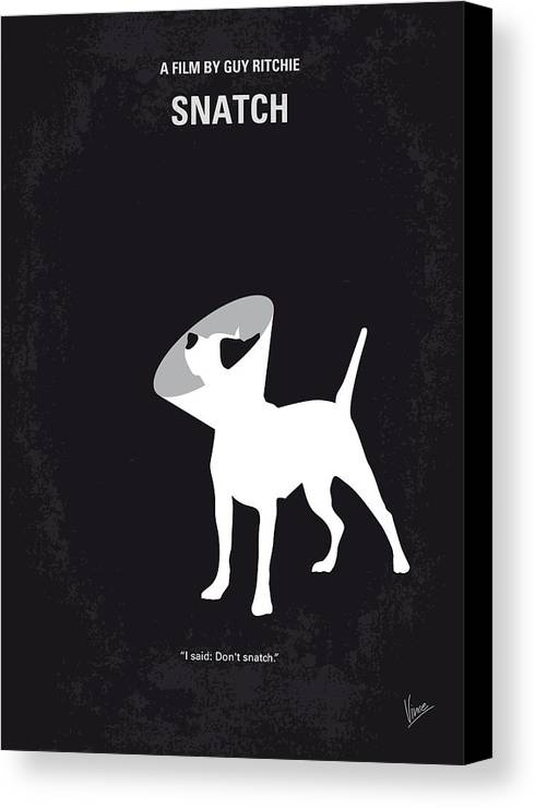 Snatch Canvas Print featuring the digital art No079 My Snatch Minimal Movie Poster by Chungkong Art