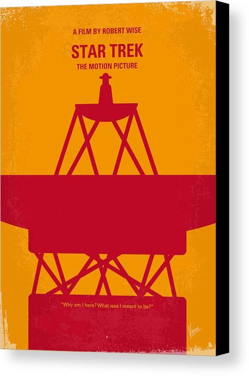 Star Canvas Print featuring the digital art No081 My Star Trek 1 Minimal Movie Poster by Chungkong Art