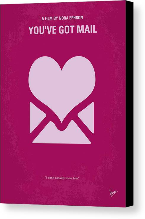 You Canvas Print featuring the digital art No107 My Youve Got Mail Movie Poster by Chungkong Art