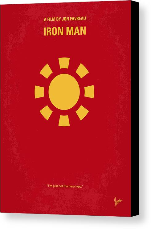 Iron Canvas Print featuring the digital art No113 My Iron Man Minimal Movie Poster by Chungkong Art
