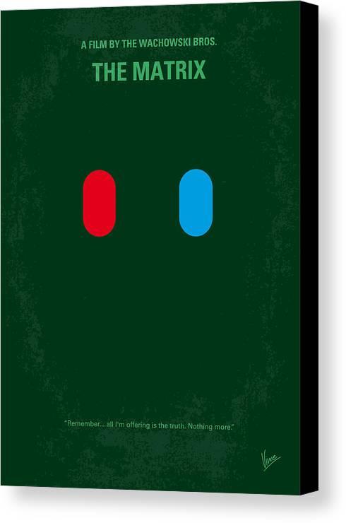 Matrix Canvas Print featuring the digital art No117 My Matrix Minimal Movie Poster by Chungkong Art