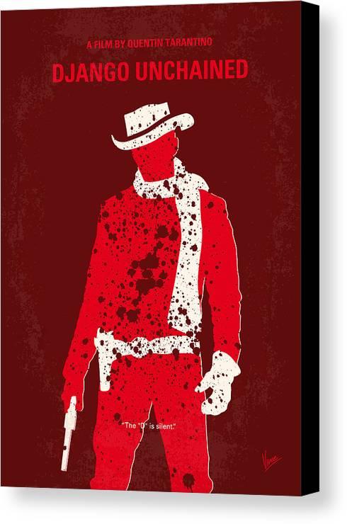 Django Canvas Print featuring the digital art No184 My Django Unchained Minimal Movie Poster by Chungkong Art