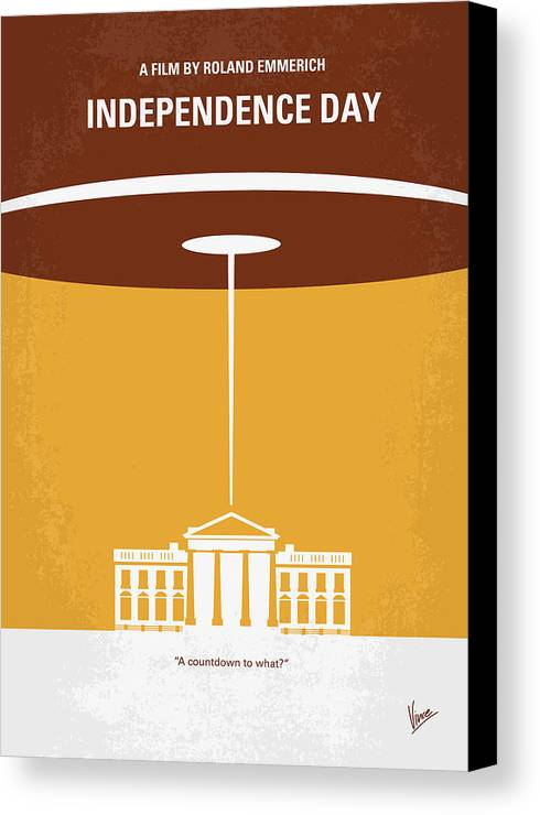 Independence Canvas Print featuring the digital art No249 My Independence Day Minimal Movie Poster by Chungkong Art