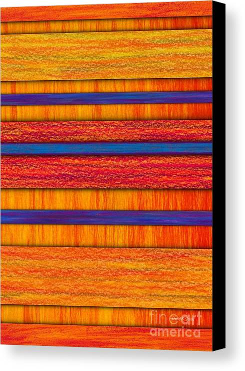 Colored Pencil Canvas Print featuring the painting Orange And Blueberry Bars by David K Small