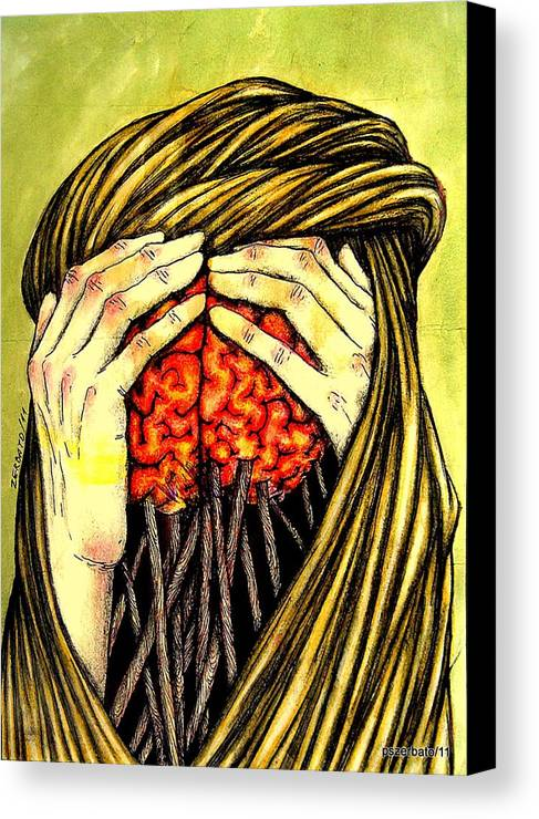 Memories Canvas Print featuring the digital art Our Torments Does Not Comes From Outside Are Spiked In Our Memory by Paulo Zerbato