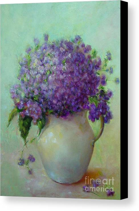 Floral Painting Canvas Print featuring the painting Phlox     Copyrighted by Kathleen Hoekstra