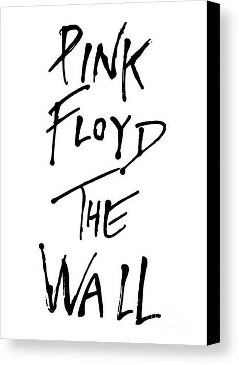 Pink Floyd Canvas Print featuring the digital art Pink Floyd No.01 by Caio Caldas