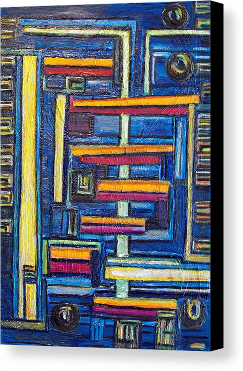 Building Blocks Canvas Print featuring the painting Relations II. by Agnes Roman