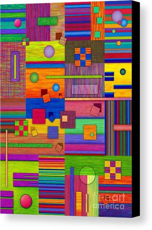 Colored Pencil Canvas Print featuring the painting Retrospect by David K Small