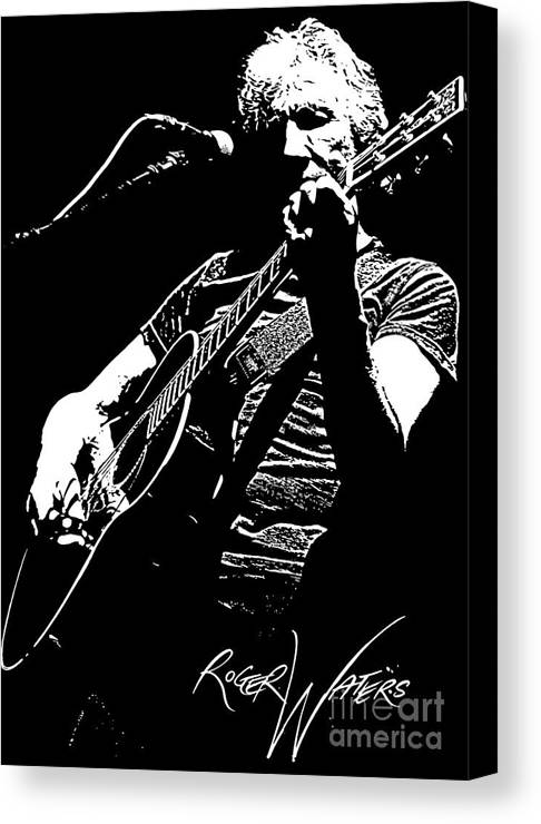 Roger Waters Canvas Print featuring the digital art Roger Waters No.01 by Caio Caldas