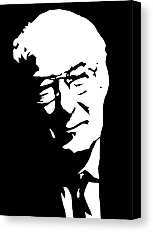 Irish Canvas Print featuring the painting Seamus Heany Famous Irish Writer by Monofaces