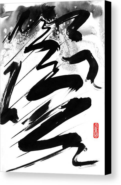 Hakon Canvas Print featuring the painting Snow-clad Mountain by Hakon Soreide
