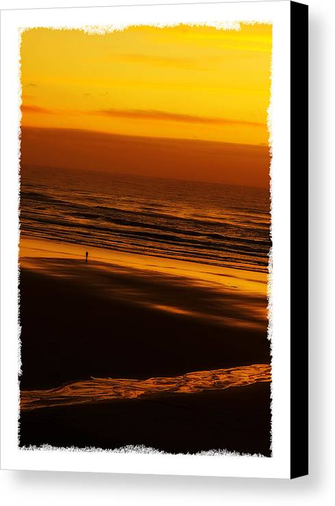 Card Canvas Print featuring the photograph Sound Of Silence by Mark Baker