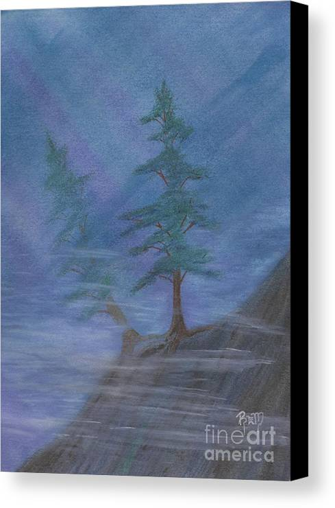 Mist Canvas Print featuring the painting Standing Alone by Robert Meszaros
