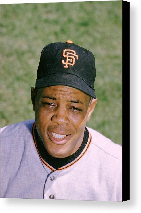 Marvin Newman Canvas Print featuring the photograph The Great Willie Mays by Retro Images Archive