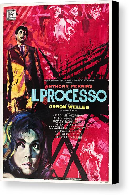 1960s Movies Canvas Print featuring the photograph The Trial, Aka Il Processo, From Top by Everett