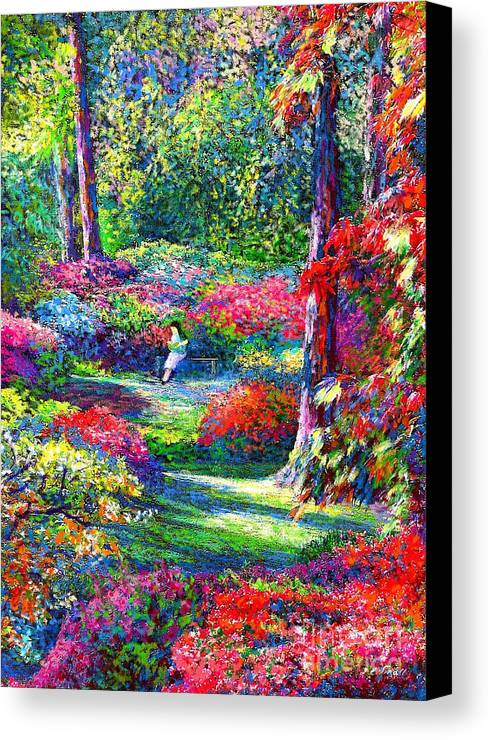 Garden Canvas Print featuring the painting To Read And Dream by Jane Small