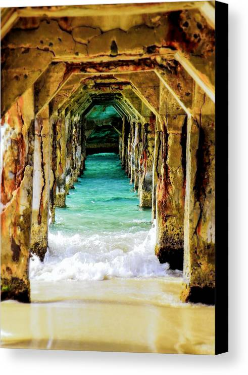 Waterscapes Canvas Print featuring the photograph Tranquility Below by Karen Wiles